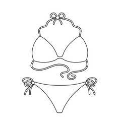 blue swimsuit for women summer rest single icon vector image