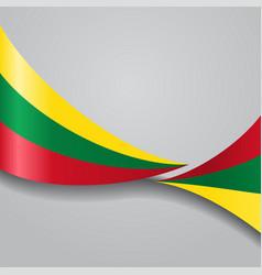 Lithuanian wavy flag vector