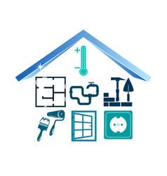 Buildings construction pictogram vector