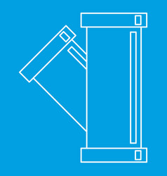 Tee plumbing fitting icon outline style vector