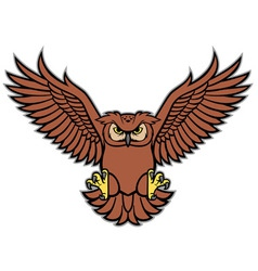 Owl spread the wing vector