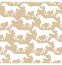 Seamless pattern with stylized horses vector