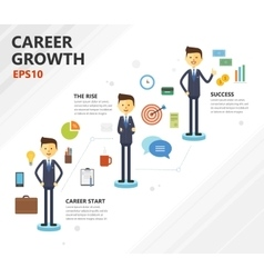 Business career growth vector