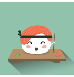 Cute cartoon sushi vector
