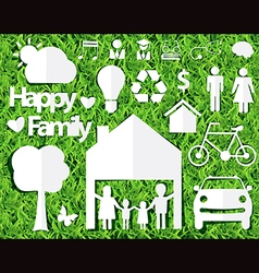 Happy family ideas concept vector