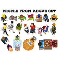 People from the top view vector