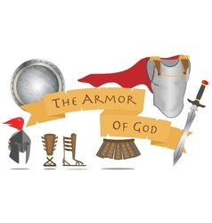 Armor of god christianity warrior jesus christ vector
