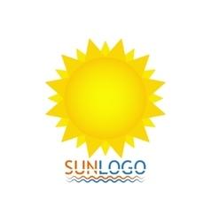 Sun icon sun logo summer design vector
