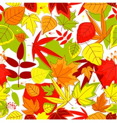 Autumnal seamless pattern vector