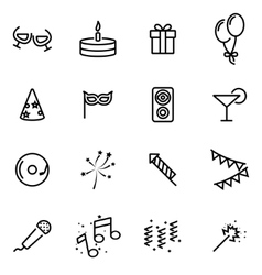 Thin line icons - party vector