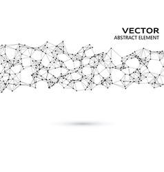 Abstract particles on white background vector