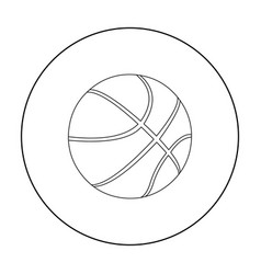 Basketball icon outline single sport icon from vector