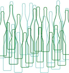 Bottles silhouette vector
