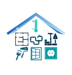 Buildings construction pictogram vector