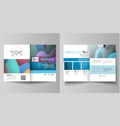 business templates for bi fold brochure magazine vector image vector image