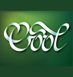 Calligraphic inscription template vector