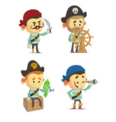 cartoon pirates vector image vector image