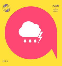 cloud thunderstorm lightning rain icon vector image vector image