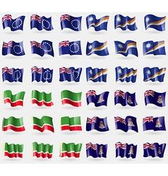 Cook islands marshall islands chechen republic vector
