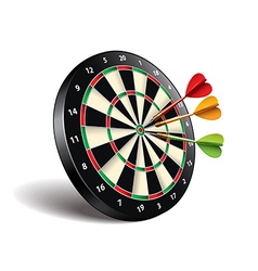 darts target isolated vector image