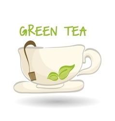 Flat of tea design vector image