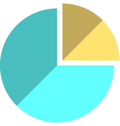 Flat statistic icon vector