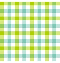 Green blue check tablecloth seamless pattern vector image vector image