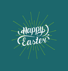 happy easter type greeting card religious holiday vector image