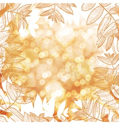 Happy thanksgiving background autumn blur vector