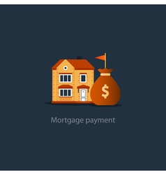 House budget icon real estate investment rent vector image vector image