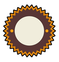 isolated round icon banner vector image vector image