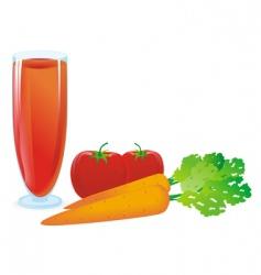 Juice tomato vector