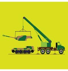 Monochrome icon set eight tank vector image