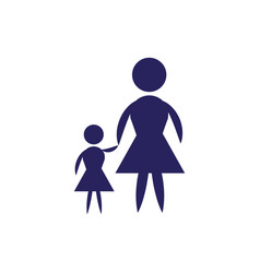 mother and son flat icon vector image vector image