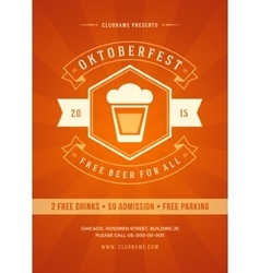 Oktoberfest beer festival poster or flyer template vector image