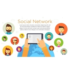 Online chat social network vector image vector image