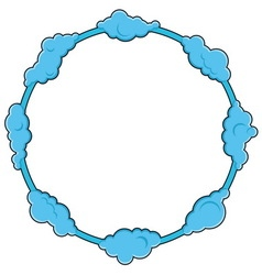 Round frame consists of clouds vector