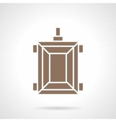 Rural trailer glyph style icon vector