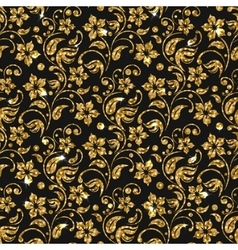 seamless damask pattern with flowers vector image vector image
