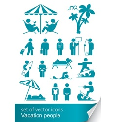 set icon vacation people vector image vector image