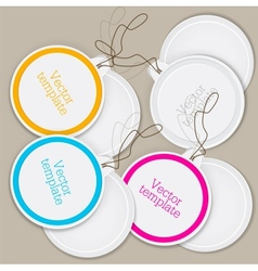 Set of bubbles stickers labels tags template vector image vector image