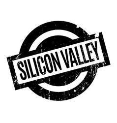 Silicon valley rubber stamp vector