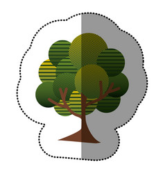 stamp natural tree icon vector image