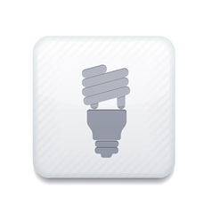 white light bulb icon Eps10 Easy to edit vector image vector image