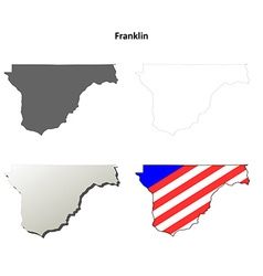 Franklin map icon set vector