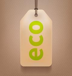 Eco Tag vector image
