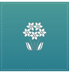 Bush flower icon vector
