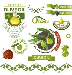 Olives emblems vector