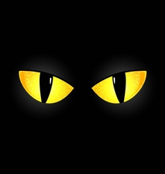 Eyes of a black cat vector