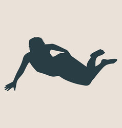 Woman lying on the floor isolated vector